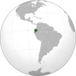 Ecuador (orthographic projection).svg